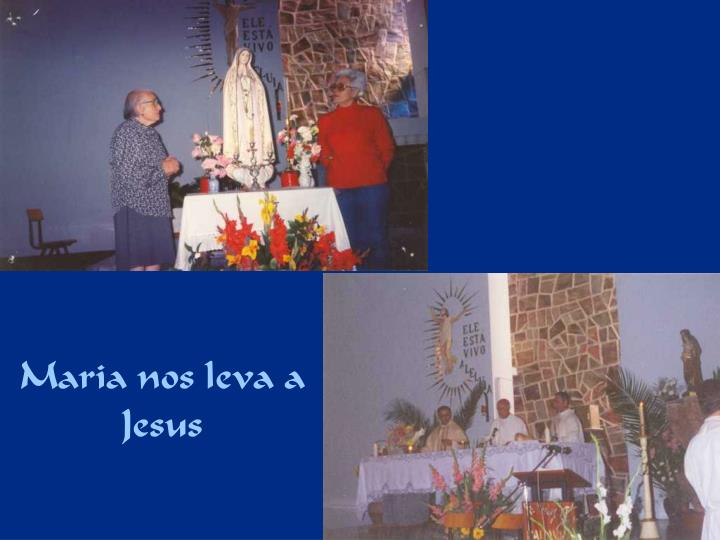 Maria nos leva a Jesus
