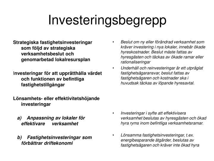 Investeringsbegrepp