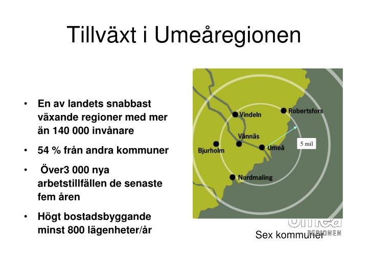 Tillväxt i Umeåregionen