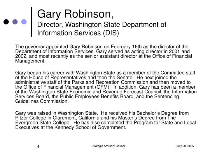 Gary Robinson,