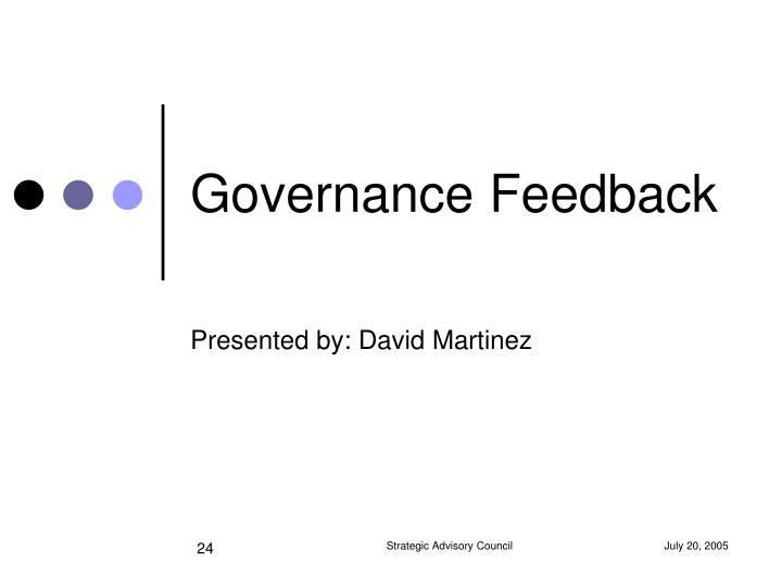 Governance Feedback