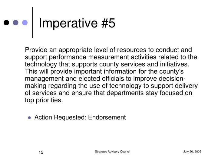 Imperative #5