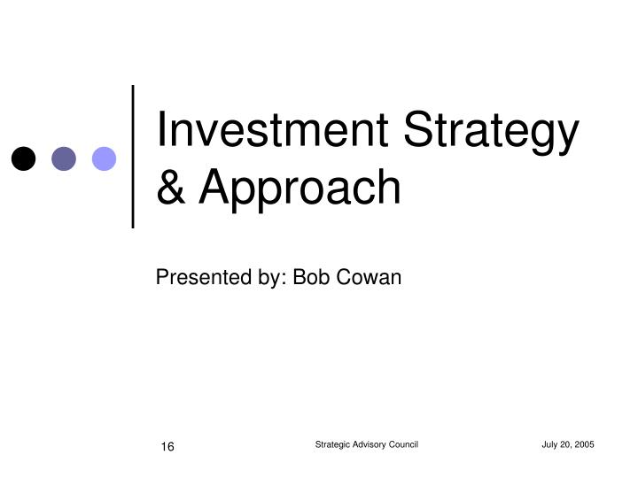 Investment Strategy & Approach