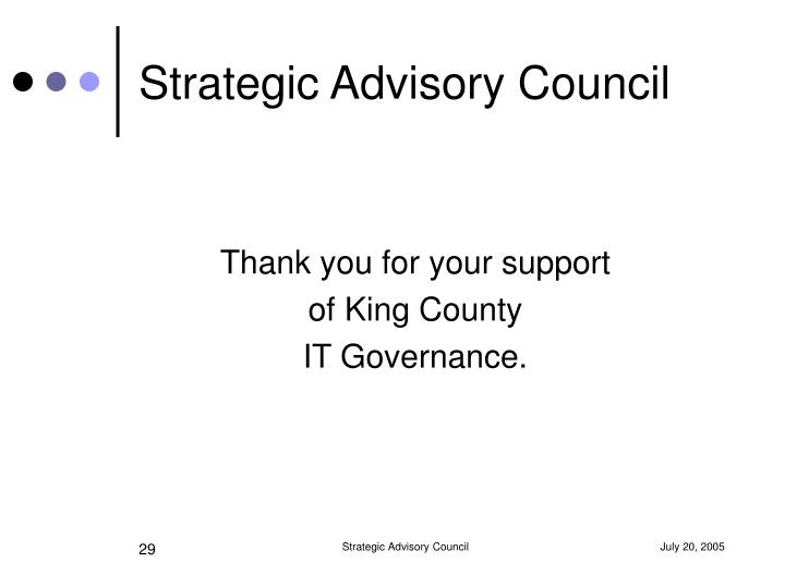 Strategic Advisory Council