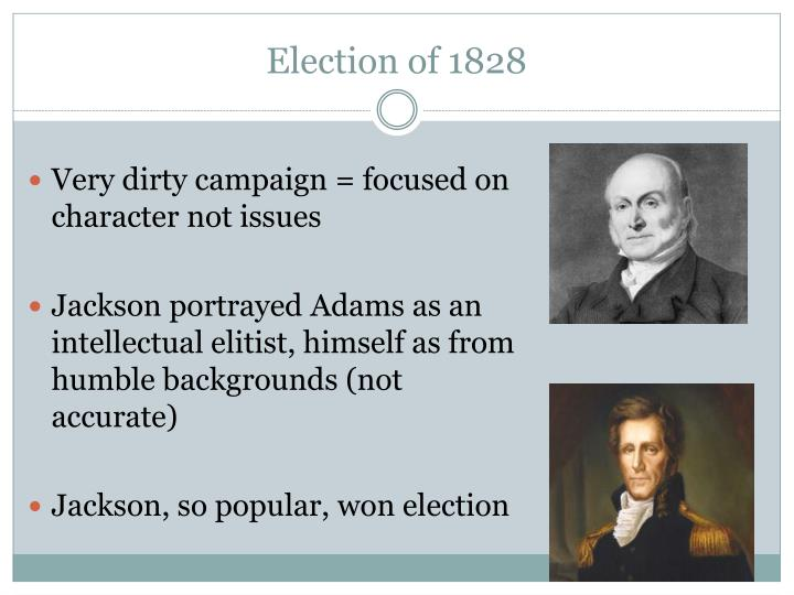 presidential election of 1828 The digital collections of the library of congress contain a wide variety of  material associated with the presidential election of 1828, including manuscripts, .