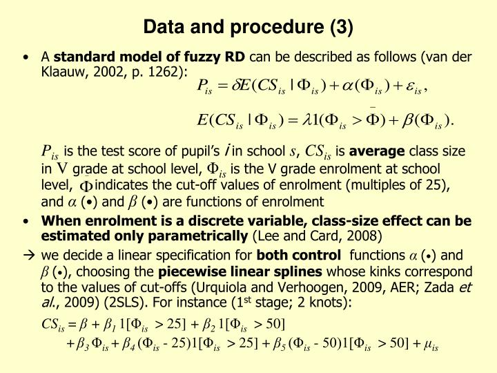 Data and procedure (3)
