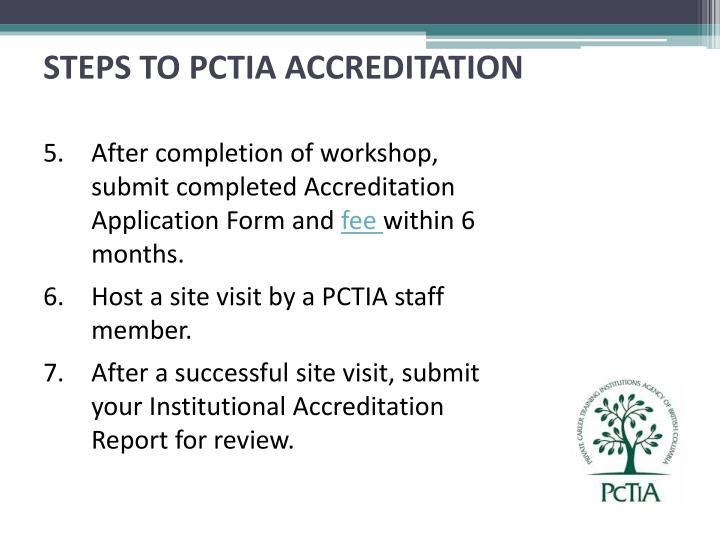 STEPS TO PCTIA ACCREDITATION