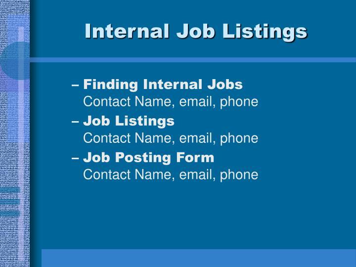 Internal Job Listings
