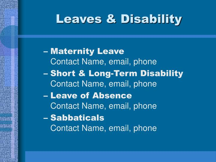 Leaves & Disability