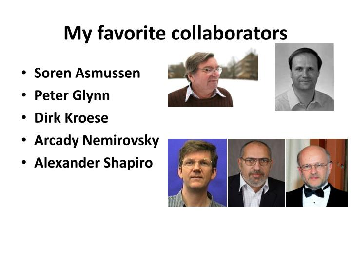 My favorite collaborators