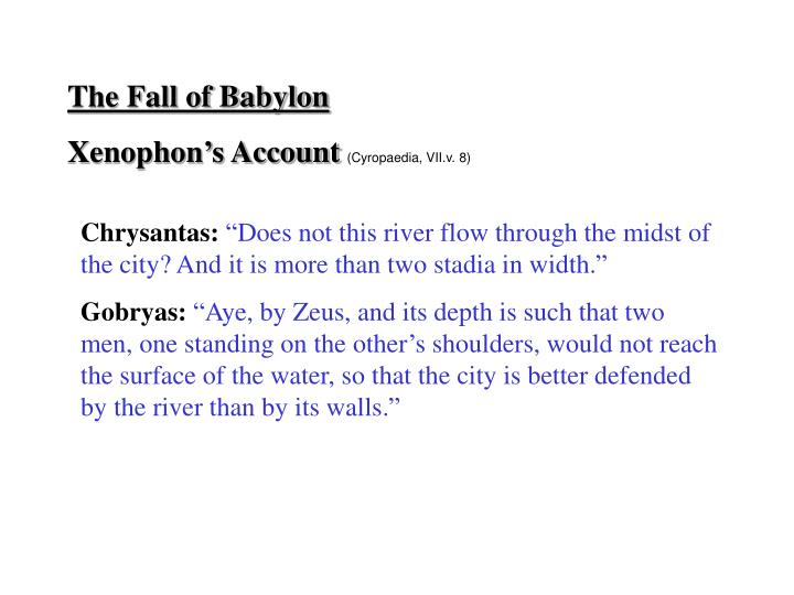 The Fall of Babylon