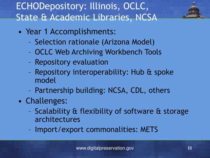 ECHODepository: Illinois, OCLC,
