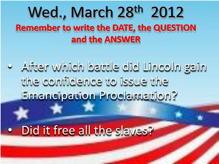 Wed., March 28