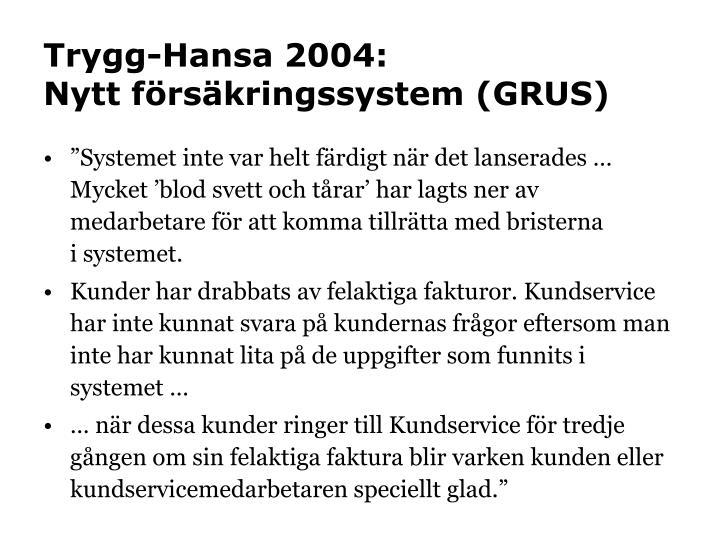 Trygg-Hansa 2004: