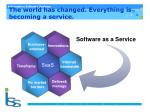 the world has changed e verything is becoming a service