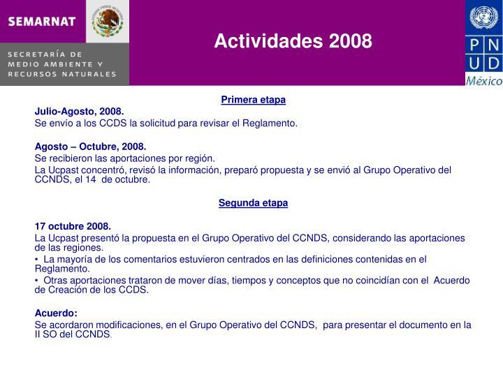 Actividades 2008