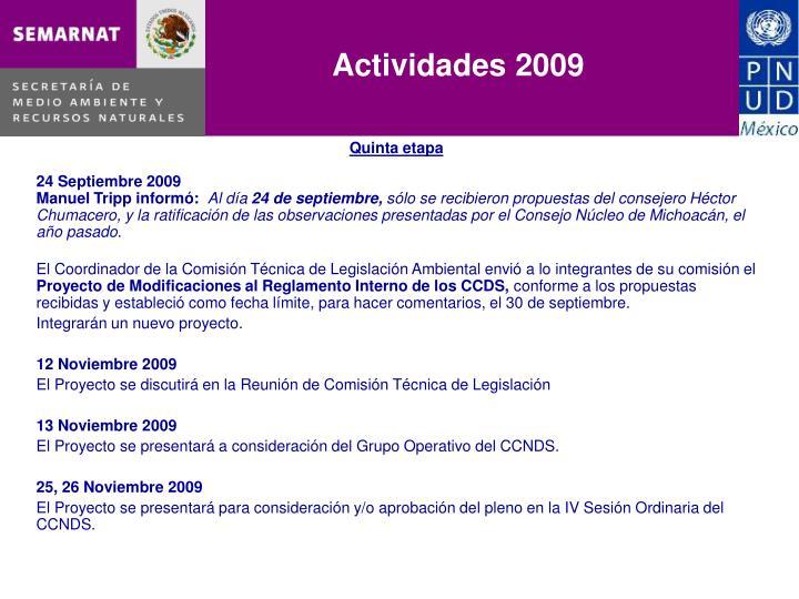 Actividades 2009