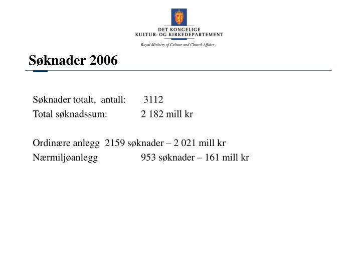 Søknader 2006