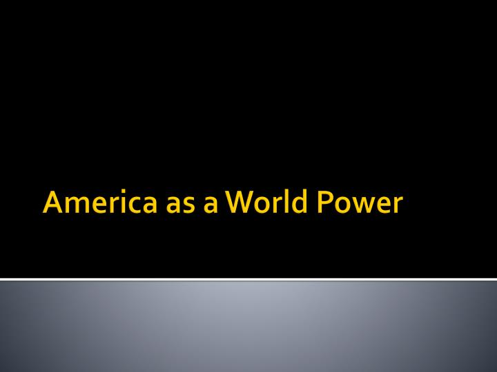 America And Imperialism