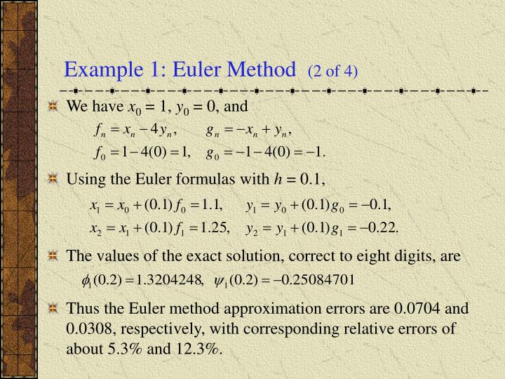 Example 1: Euler Method