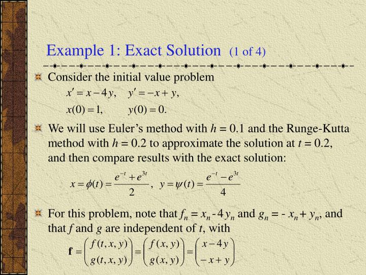 Example 1: Exact Solution