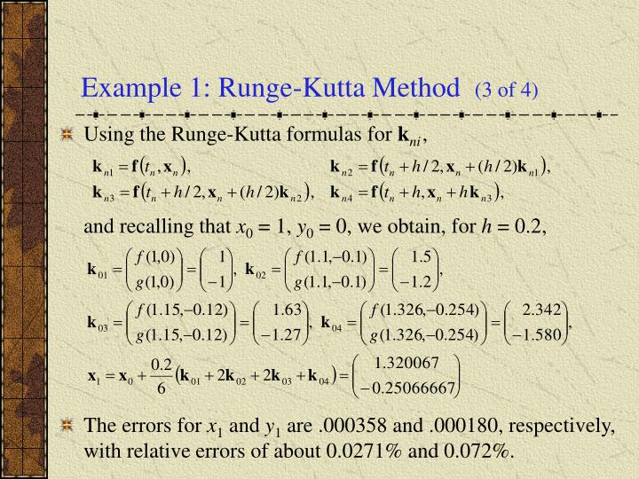 Example 1: Runge-Kutta Method