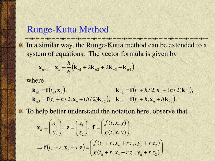 Runge-Kutta Method