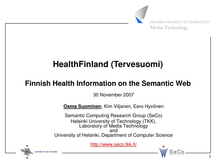 Finnish health information on the semantic web