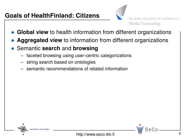Goals of HealthFinland: Citizens