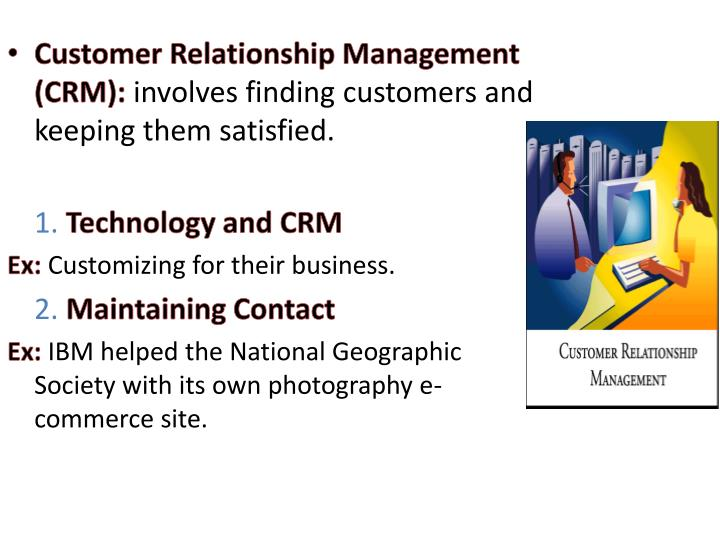 Customer Relationship Management (CRM):