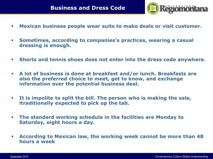Business and Dress Code