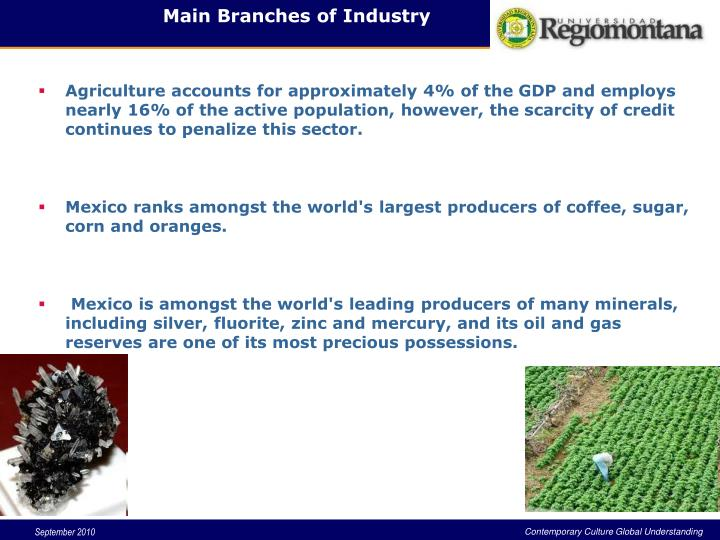 Main Branches of Industry