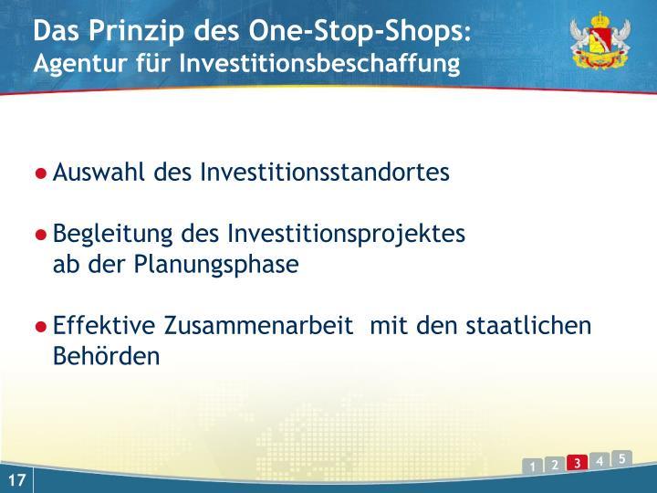 Das Prinzip des One-Stop-Shops