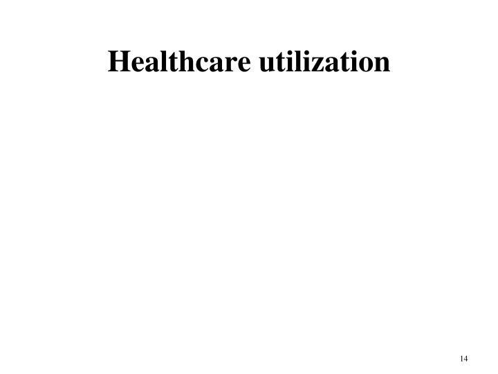 Healthcare utilization