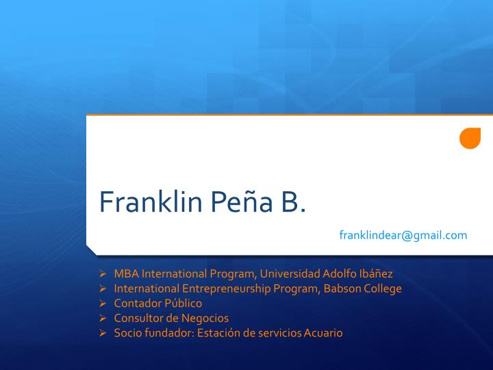 Franklin Peña B.