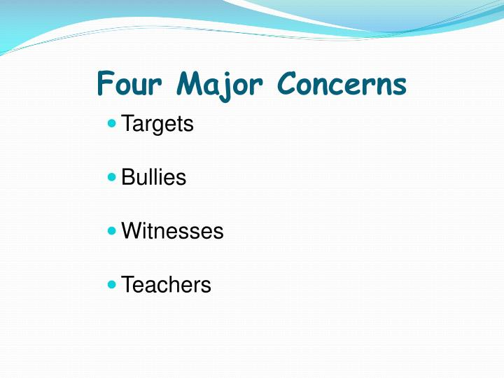 Four Major Concerns