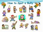 how to spot a bully
