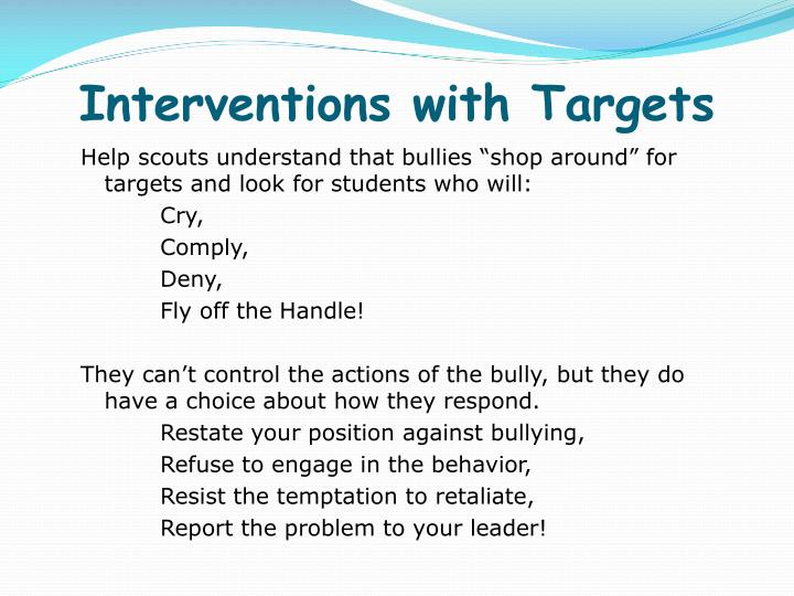 Interventions with Targets