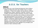 s o s for teachers