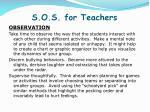 s o s for teachers1