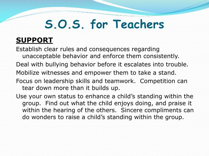 S.O.S. for Teachers