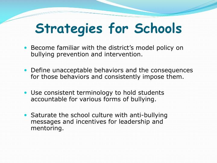 Strategies for Schools