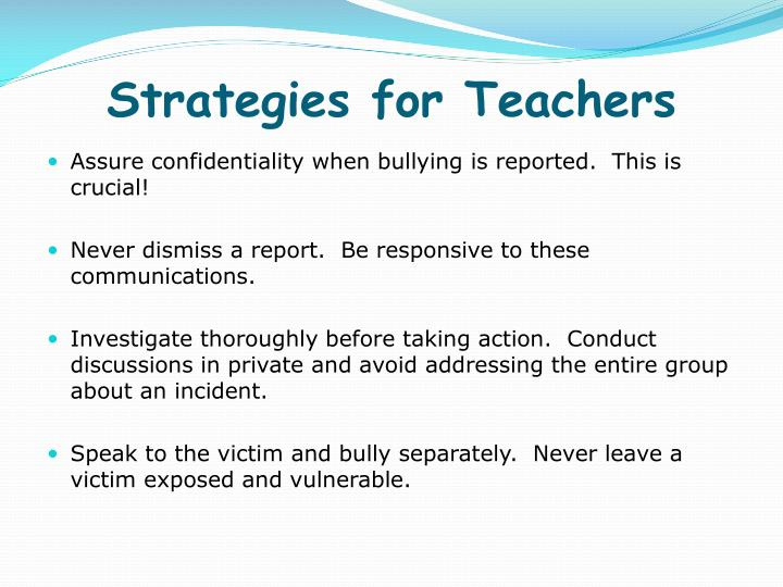 Strategies for Teachers