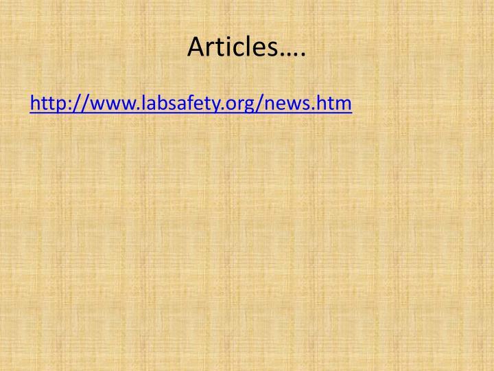 Articles….