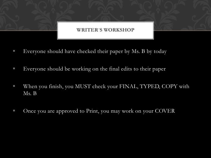 Writer´s Workshop