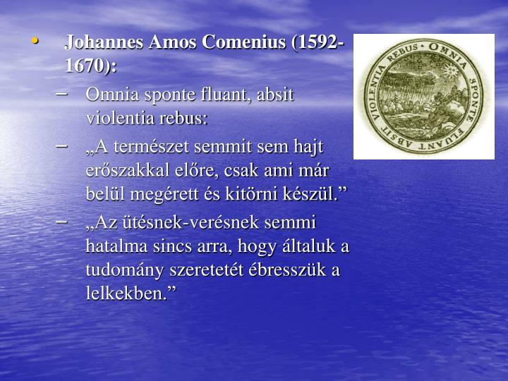 Johannes Amos Comenius (1592-1670):