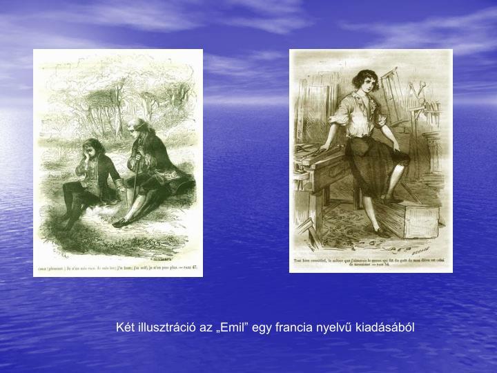 """Két illusztráció az """"Emil"""" egy francia nyelvű kiadásából"""