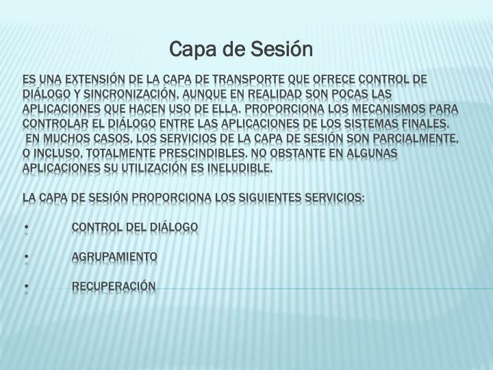 Capa de Sesión