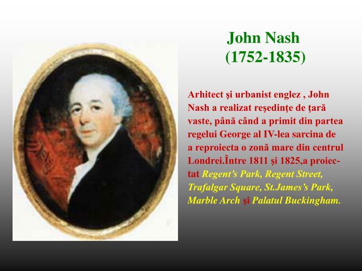 Arhitect şi urbanist englez , John