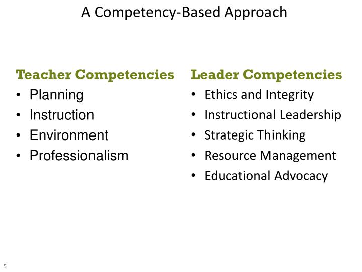 A Competency-Based Approach